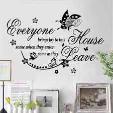 Live Love Laugh Papillon Art Mur Citations Stickers Chambre Mots