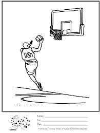 Olympic Coloring Page Basketball Layup