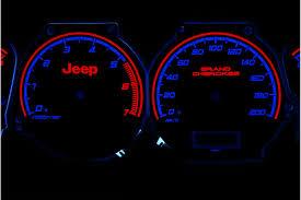 2001 Jeep Grand Cherokee Check Gauges Light Details About Jeep Grand Cherokee 1999 2001 Glow Gauges Dials Plasma Dials Kit Tacho Glow Das