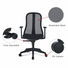 fully adjustable office chair. LANGRIA High Back Black Mesh Swivel Office Chair Professional Task Boss With 3 Position Lock Synchronous Tilt Mechanism-in Chairs From Fully Adjustable