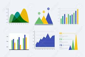 Infographic Vector Element Set Color Business Graph Report