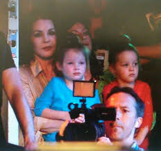 Nana, Finley (in blue) and Harper, October 2013 | Elvis and priscilla,  Elvis presley family, Priscilla presley