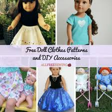 Doll Clothes Patterns Adorable 48 Free Doll Clothes Patterns And DIY Accessories AllFreeSewing