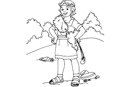 Small Picture Shepherd Boy clipart david and goliath Pencil and in color