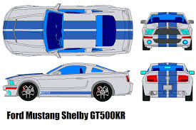 ford mustang top view. ford mustang shelby gt500 kr by bagera3005 top view o