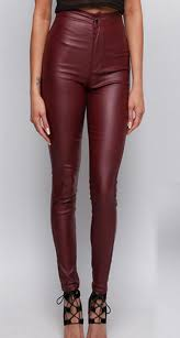 whole high waisted wine red faux leather locomotive jeans plus size tight skinny leather pants full length fashion slim leather jeans
