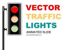 Animated Ppt Presentation Animated Traffic Light Powerpoint Slide
