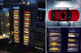 Car Vending Machine Singapore Interesting Singapore's 48storey Luxury Car 'VENDING MACHINE' Dispensing