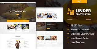 Construction Website Templates New Construct Templates From ThemeForest