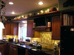 top of cabinet lighting. Top Cabinet Decorating Ideas Kitchen Decorate Of Cabinets White Hood Brick Columns Accent Modern Bar . Lighting L