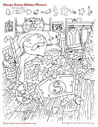You will find the best coloring pages at funnycoloring.com! Sleepy Santa Hidden Picture Activity More Santa Fun At Http Www Santa T Com Christmas Ac Hidden Pictures Christmas Worksheets Hidden Pictures Printables