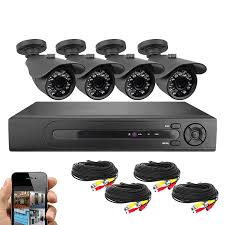 com best vision systems bv 8 channel hd 1080n dvr security surveillance system with 1tb hard drive and 4x 720p ir outdoor weatherproof bullet