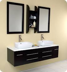 fresca bellezza espresso bathroom vanity w solid oak wood and white