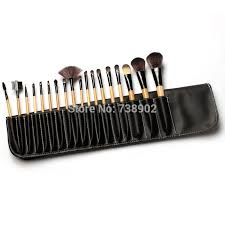 new 2017 makeup 18 pcs makeup forever brushes set professional makeup brushes tools makeup brush kit with case bag in makeup scissors from beauty health