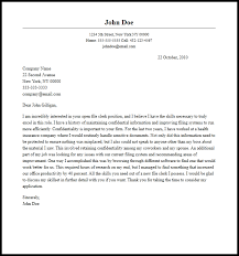 Clerical Cover Letter Examples     Cover Letter Examples          cover letter examples for clerk typist