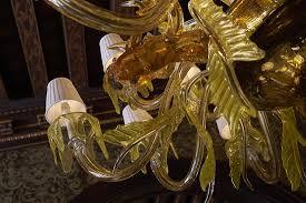 gran caffe quadri murano glass chandelier by artist aristide najean