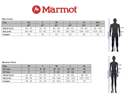 Marmot Precip Pants Size Chart Name