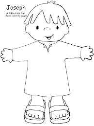 Joseph And His Coat Of Many Colors Coloring Page Pages The Print