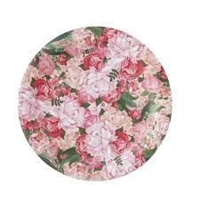 Pink Flower Paper Plates Boho Paper Plates Floral Paper Plates Boho Party Paper Plates