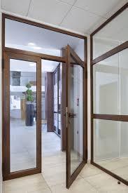 entry door swing aluminum security