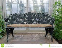 Free Photo Garden Wood Bench Seat Wrought Iron Iron Wooden  Max PixelOutdoor Wrought Iron Bench