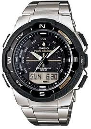 twin sensor compass and thermometer casio sports watch for men 488 82 aed brand casio watch shape round