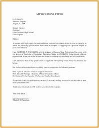 Cover Letter For Graduate School Fascinating Sample Of Application Letter For Teacher Fresh Graduate Sample Cover