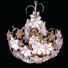large pink chandelier extra vintage gold flower art glass stunning bouquet with hand earrings