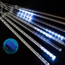 Ống Đèn Led 50cm Hình Mưa Sao Băng Trang Trí Sân Vườn