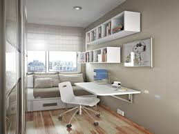 study room furniture design. Study Room Decoration With Wall Mounted Desk And White Bookshelf Furniture Design I