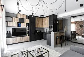 industrial inspired furniture. The Biggest Part Of Budget Was Invested Into Bespoke Furniture (two Huge Closets, Bathroom Storage, Kitchen And Living Room Furniture) Industrial Inspired S