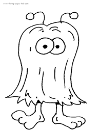 Printable Monster Coloring Pages Preschool Monster Coloring