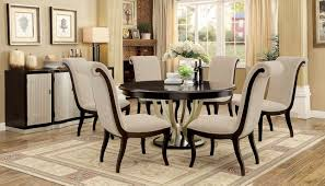 hollywood hills round 60 5 pc dining table set in dark espresso champagne