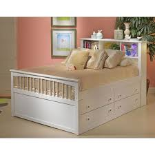 white twin storage bed. Delighful Storage Classic White Twin Storage Bed With 1 Side Drawers  Bayfront With