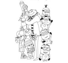Small Picture Despicable Me Coloring Pages For Kids Despicable Me Coloring
