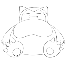 Small Picture Snorlax coloring page Free Printable Coloring Pages