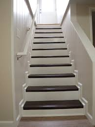 Refinishing Basement Stairs Stair Exciting Basement Stair Ideas For Beautifying The Often