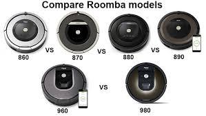 Roomba Comparison Chart Comparison Irobot Roomba 900 And 800 Series 860 Vs 870 Vs