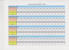 How To Keep Track Of Employees Time Pto Log Paid Time Off 20 Employees Excel File