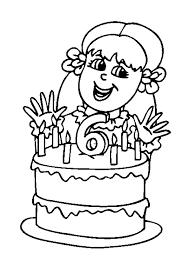 Kleurplaat Meisje 4 Jaar Met Taart Kleurplaat Verjaardagstaart 4