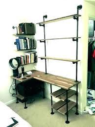 shelves above desk with and shelving unit desktop shelf great over modern walnut computer wall argos
