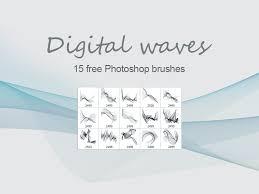 Digital Waves Free Ps Brushes By Dimitar Tsankov Dribbble Dribbble