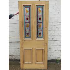 sd025 victorian edwardian 4 panel exterior door with stained glass hargreaves
