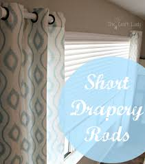 Curtain rods for small windows Rod Pocket Short Drapery Rods The Crazy Craft Lady Short Drapery Rods The Crazy Craft Lady