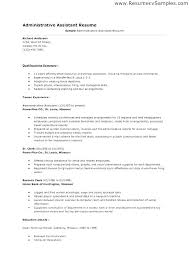 Sample Administrative Assistant Resume Best Resume Samples For ...