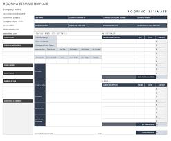 Project Estimate Template Excel Free Estimate Templates Smartsheetction Cost Report Template