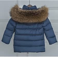 100 natural rac fur collar jacket 2017 white duck down coats kid long thick parkas baby navy blue jackets windbreaker coats coats for little girl navy