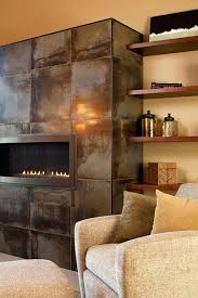 stainless steel fireplaces contemporary living room with acid washed stainless steel fireplace surround furniture city spaces