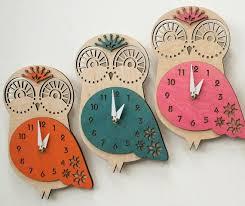 kids wall clock owl clock clock