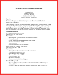 Entry Level Office Clerk Resume Samples Vinodomia